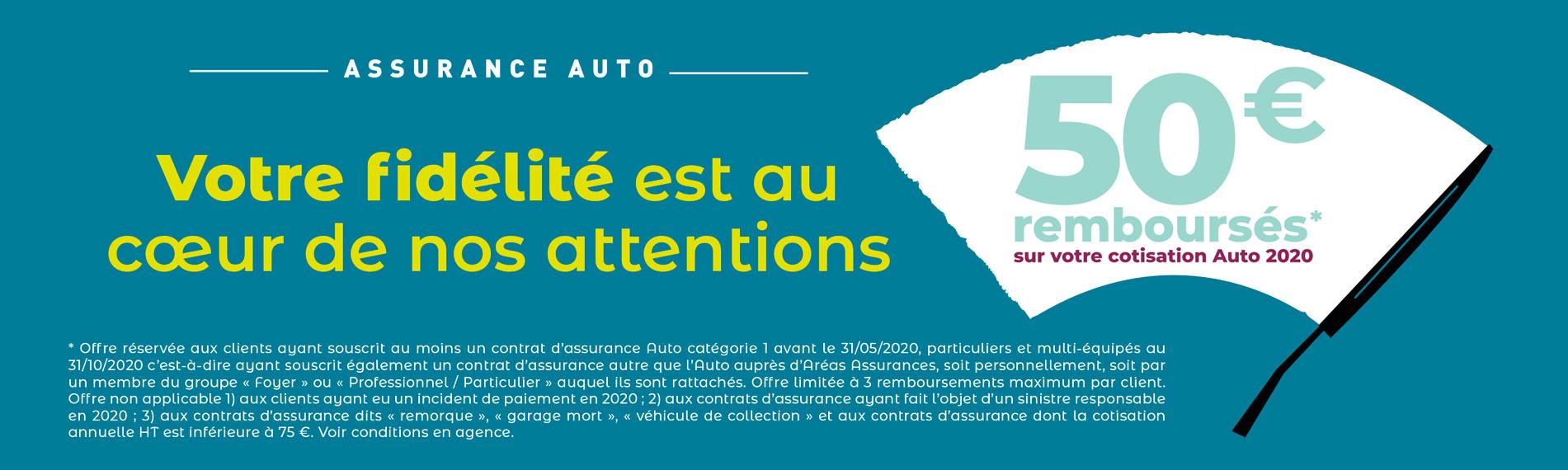 ASSURANCE AUTO 50 € REMBOURSÉS